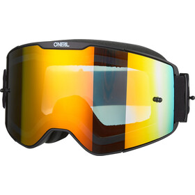 O'Neal B-20 Goggles Plain black/white-radium red